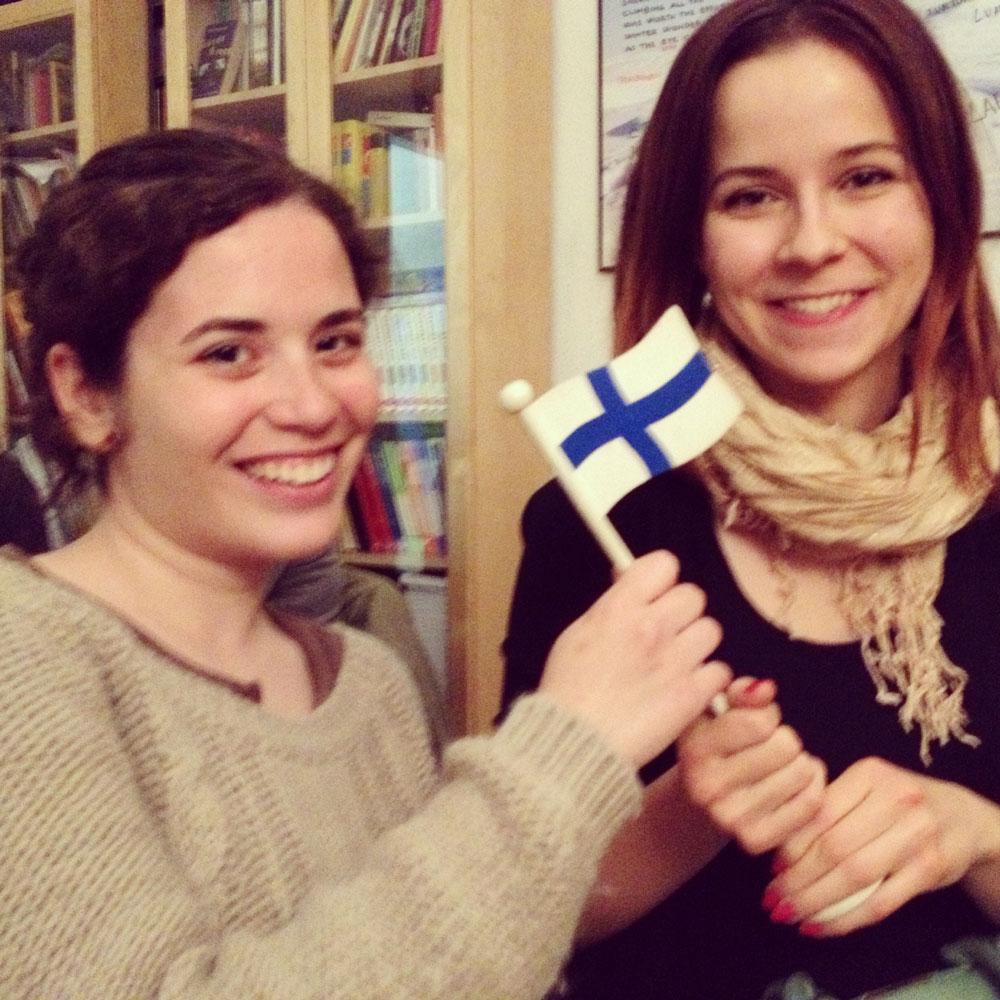 Astrid Codana y Anna Savolainen