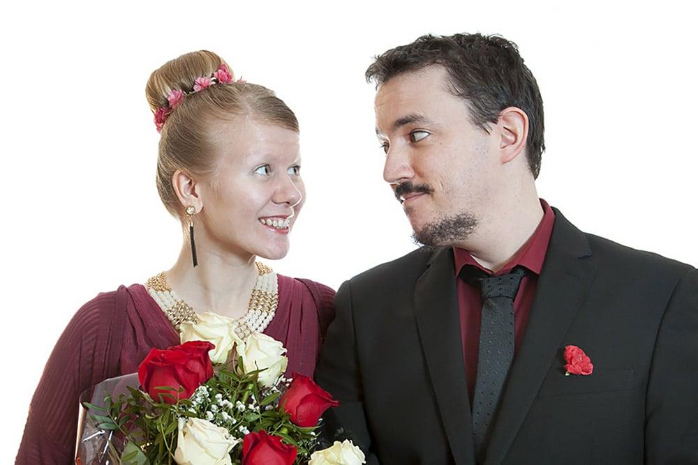 Carlos y Charlotta recién casados en Helsinki