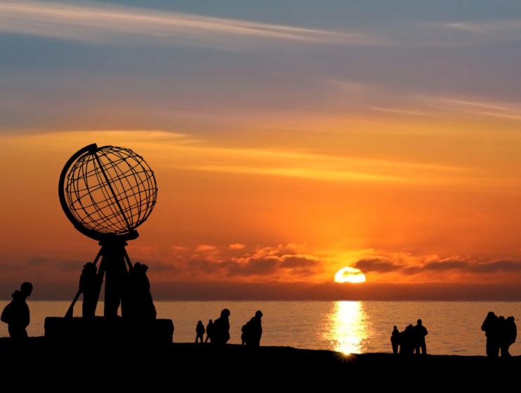 Nordkap b. Mitternachtssonne - North Cape w/ Midnight Sun
